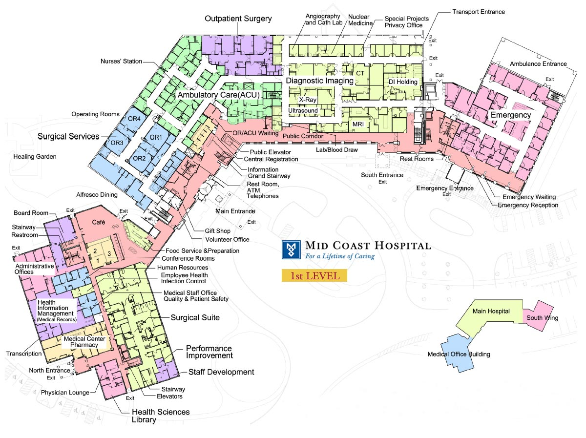 Mid Coast Hospital Find Us Floor Plans Level 1